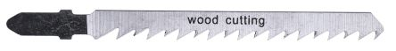 RS PRO T-Shank Jigsaw Blade Set For Wood, 75mm Cutting Length 5 Pack
