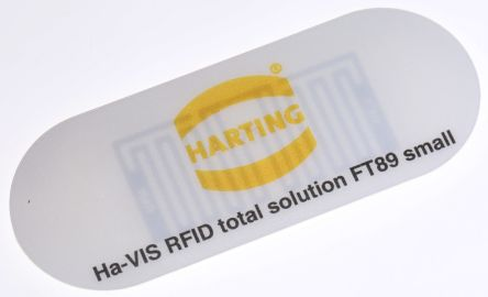 Harting Transponder 128 bit Transponders, 4 m, IP64, IP67, IP69K, 74 x 29 x 0.7 mm