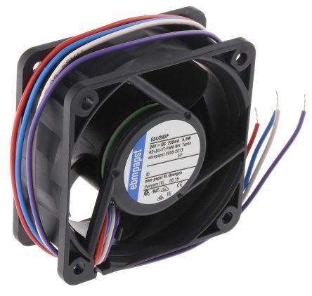 DC Axial Fan, 60 x 60 x 25.4mm, 67m³/h, 5.8W, 24 V dc
