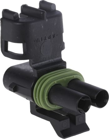 Delphi, Weather-Pack 1 Row 2 Way Cable Mount Socket Connector, with Crimp Termination Method