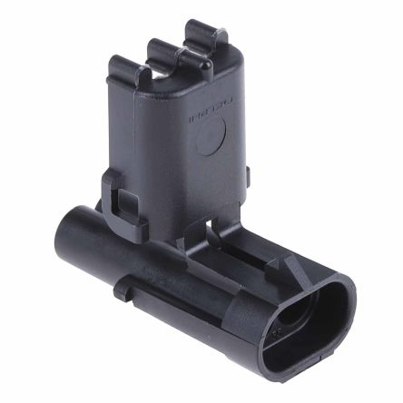 Delphi, Weather-Pack 1 Row 2 Way Cable Mount Plug Connector, with Crimp Termination Method