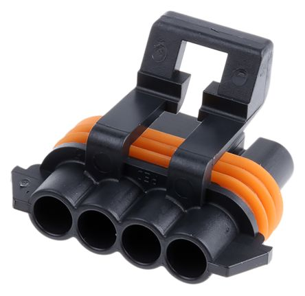 Delphi, Metri-Pack 150 1 Row 4 Way Cable Mount Socket Connector, with Crimp Termination Method