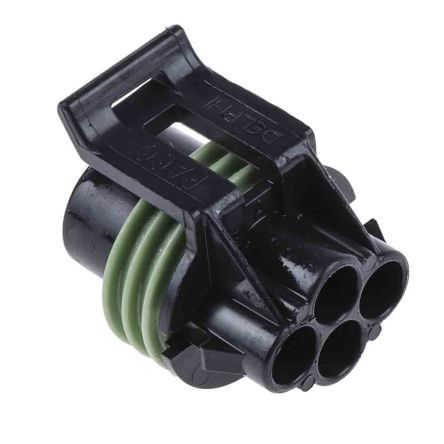 Delphi, Metri-Pack 150 Automotive Connector Socket 4 Way, Crimp Termination