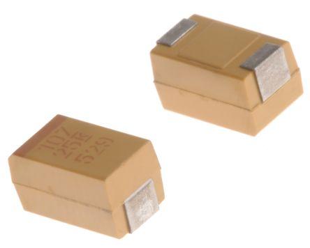 KEMET Tantalum Capacitor 100μF 25V dc MnO2 Solid ±10% Tolerance T491 Series