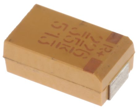 KEMET Tantalum Capacitor 22μF 35V dc MnO2 Solid ±10% Tolerance T495 Series