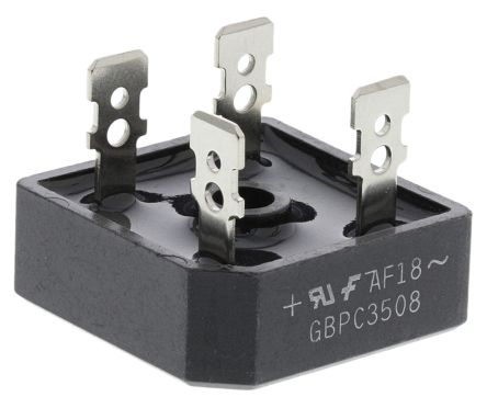 ON Semiconductor GBPC3508, Bridge Rectifier, 35A 800V, 4-Pin GBPC