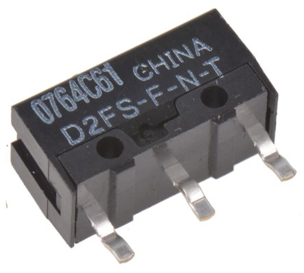 SPST-NO Pin Plunger Microswitch, 100 mA @ 5 V dc