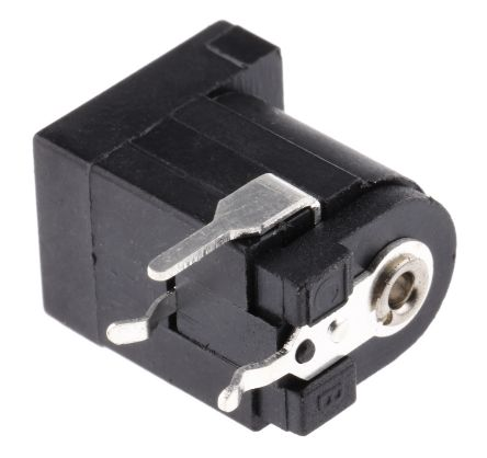 RS PRO 2.1 mm, 2.5 mm PCB Mount Dual DC Jack Socket 5A