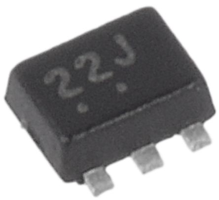 ON Semiconductor NUF2042XV6T1G, Quint-Element Bi-Directional ESD Protection Diode, 0.22W, 6-Pin SOT-563