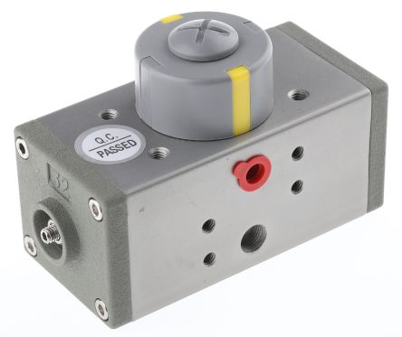 Double Acting Actuator Valve Extruded Aluminium Alloy 5 Way, 1/8in Pipe Size product photo