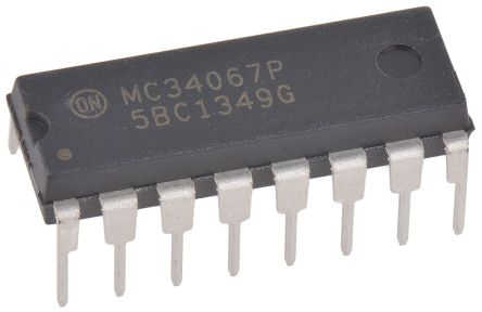 ON Semiconductor MC34067PG, Dual PWM Voltage Mode Controller, 1.5 A, 2200 kHz 16-Pin, PDIP