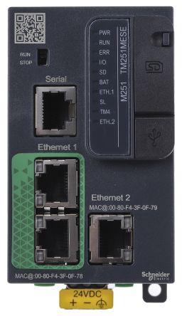 Schneider Electric Modicon M251 Logic Controller Mini USB Interface, 128000 Steps Program Capacity, 24 V dc