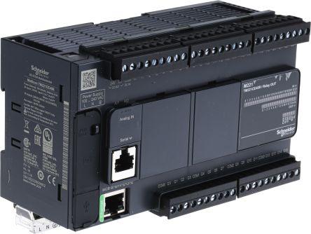 Schneider Electric Modicon M221 PLC CPU Mini USB Interface, 10000 Steps Program Capacity, 24 Inputs, 16 Outputs