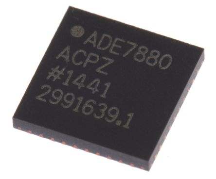 Analog Devices ADE7880ACPZ Energy Meter IC, 40-Pin LFCSP WQ