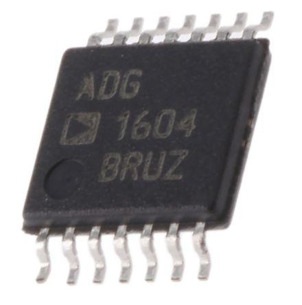Analog Devices ADG1604BRUZ, Multiplexer Single 4:1, 3.3 → 16 V, 14-Pin TSSOP