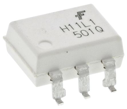 ON Semiconductor, H11L1SM DC Input Logic Gate Output Optocoupler, Surface  Mount, 6-Pin MDIP