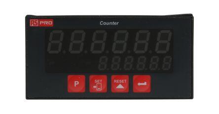 RS PRO 6 Digit, LED, Digital Counter, 20kHz, 230 V ac