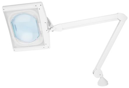 RS PRO Magnifying Lamp with Table Clamp Mount, 3dioptre, 190 x 160mm Lens