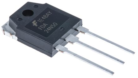 FDA24N50 N-Channel MOSFET, 24 A, 500 V UniFET, 2-Pin TO-3PN product photo