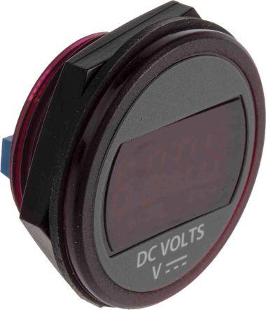Murata Power Solutions Digital Voltmeter DC, LED Display 4-Digits ±0.06 V, ±0.4 V, 30.73 Dia. mm