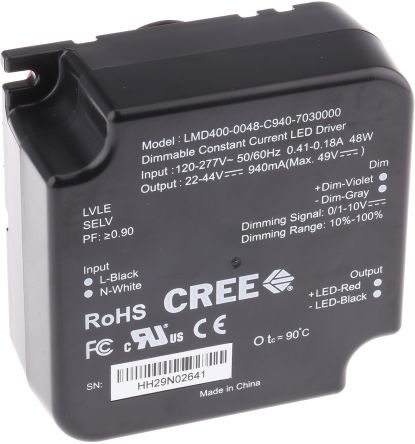 LMD400-0048-C940-7030000, Constant Current 1-10 V LED Driver 41W 22 -> 44V 940mA product photo