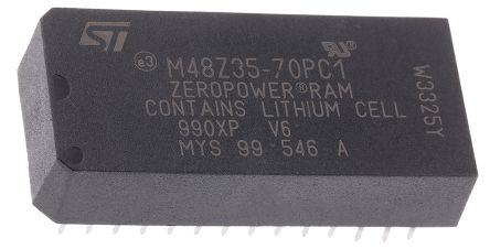 STMicroelectronics M48Z35-70PC1 NVRAM, 256kbit, 5ns, 5V 28-Pin PCDIP
