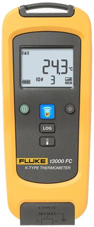 Fluke T3000 FC Digital Thermometer, 1 Input Wireless, K Type Input