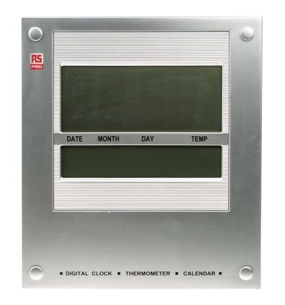 Silver Digital Wall Clock product photo