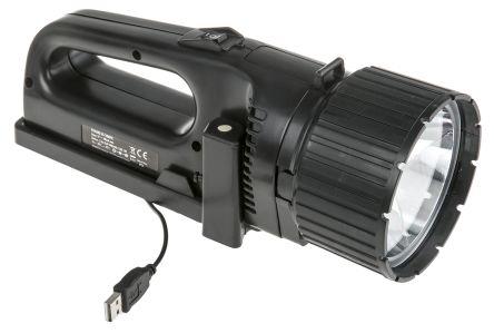 Ansmann Rechargeable, LED Handlamp, 5W Water Resistant, 650 m Beam, Focusing