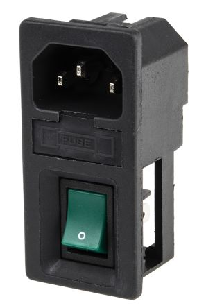 RS PRO C14 Panel Mount IEC Connector