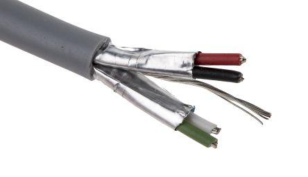 Kabel, 2-paarig 7/0,77 mm 22 AWG, Ø 4mm, Aluminiumfolie-PET-Band ...