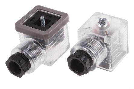GDM S Female Hirschmann 3P+E DIN 43650 A Solenoid Valve Connector Central Nut