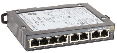 HARTING 8 RJ45 port DIN Rail Mount Ethernet Switch, 10 Mbit/s, 100 Mbit/s