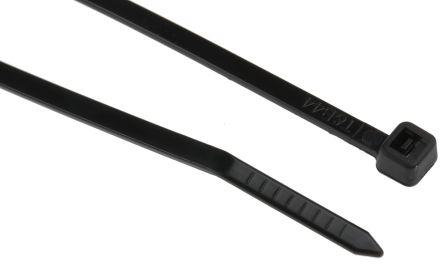ABB Black Nylon Cable Tie, 200mm x 3.6 mm, Spec-Kon Series