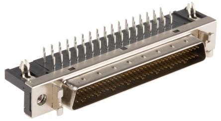SCSI Series, Male 68 Pin Right Angle Through Hole SCSI Connector 2.54mm Pitch, Solder product photo