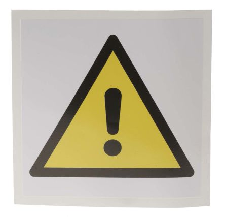 General Danger Label, Black/Yellow/White Self-Adhesive Vinyl product photo