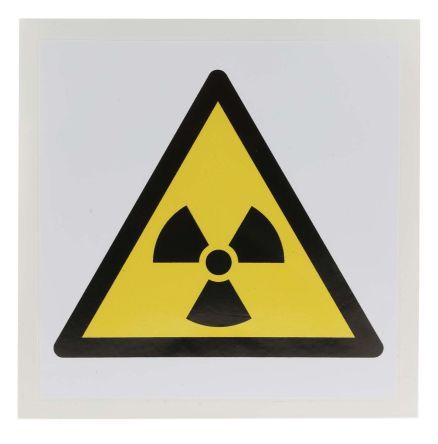 Warning: Radioactive Material Label, Black/Yellow/White Self-Adhesive Vinyl product photo