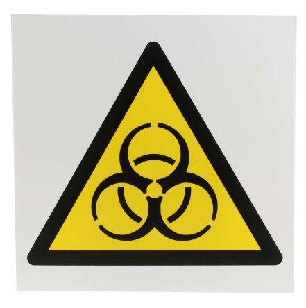 Biological Hazard Sign, Black/Yellow/White Plastic product photo