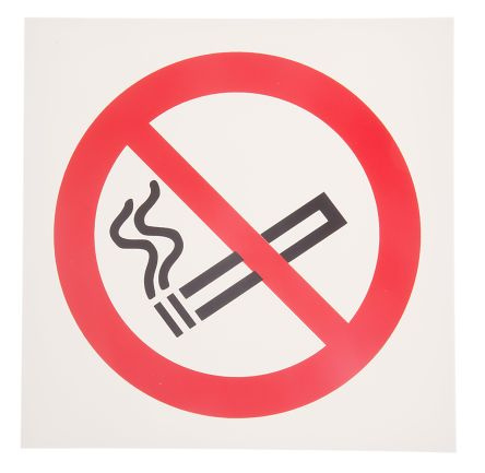 Plastic No Smoking Prohibition Sign, None, None, 200 x 200mm product photo