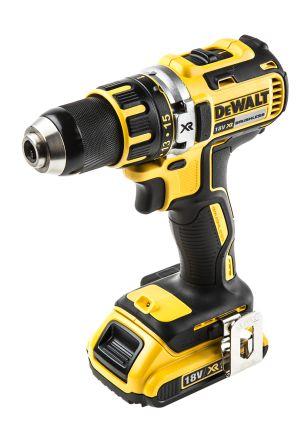 DeWALT Keyless XR Brushless 18V, 2Ah Li-ion Cordless Drill, UK Plug
