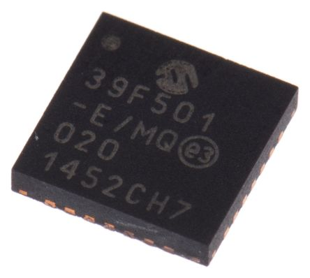 Microchip MCP39F501-E/MQ Energy Meter IC, 16 bit, 28-Pin QFN