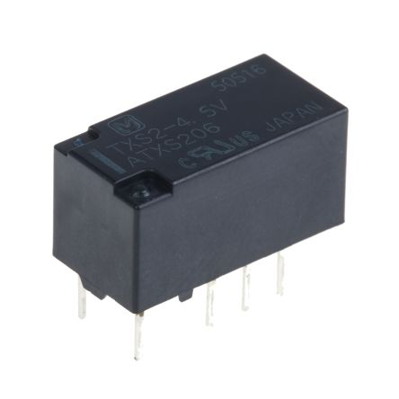DPDT Non-Latching Relay PCB Mount, 4.5V dc Coil, 1 A product photo