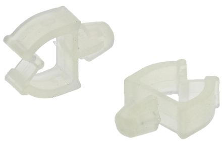 RS Pro Cable Clamp White Push In Nylon Wire Saddle, 3.5mm Max ...