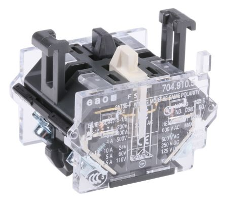 1NO/1NC Push Button Contact Block for use with 04 Series