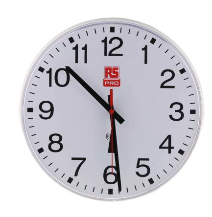 Radio Controlled White Wall Clock, 300mm product photo