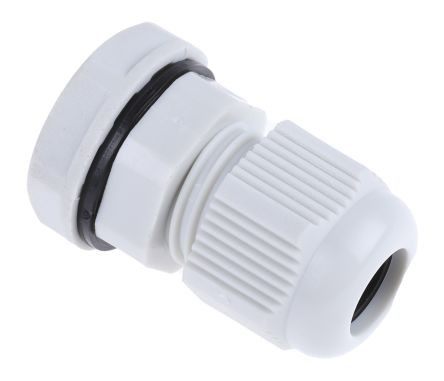 RS PRO M12 Cable Gland With Locknut Nylon, IP68