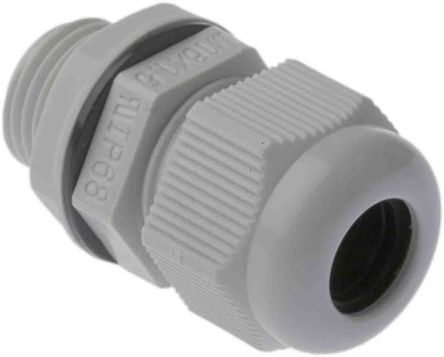 RS PRO M16 Cable Gland With Locknut, Nylon, IP68