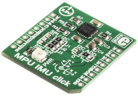 MikroElektronika MPU IMU Click Accelerometer, DMP, Gyroscope Measurement Board MIKROE-1577