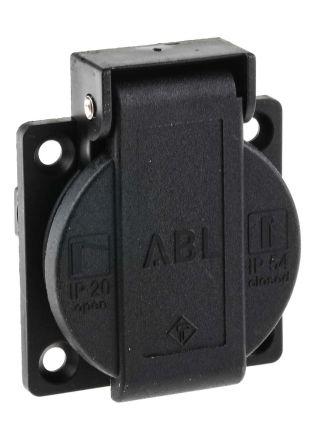 color negro Juego de enchufes Schuko y acoplamiento ABL PVC