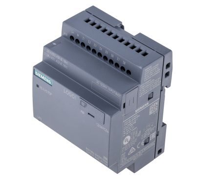Siemens LOGO! 8 Logic Module, 12 → 24 V dc, 8 x Input, 4 x Output Without Display